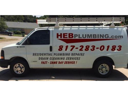 HEB Plumbing Service Van