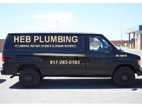 heb plumbing van sewer & drain cleaning van