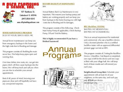 All annual programs offered