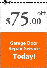 Avail $75.00 OFF On all kind of garage door repair service.