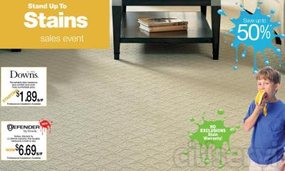 Save up to 50% on Downs Carpet