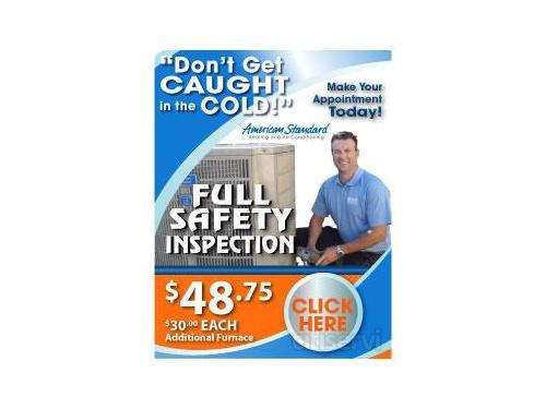 $48.75 Furnace Safety Inspection