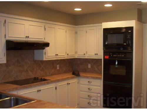 new painted cabinets