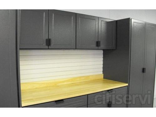 Our garage storage cabinets are custom built for the garage environment.