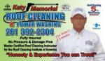 roof cleaning, power washing, pressure washing business card