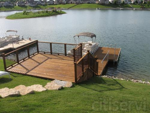 Dock after Cleaning and Staining
