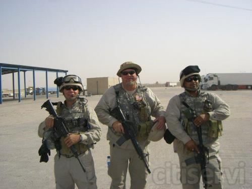 WarZone Trainer Iraq, Me in middle .