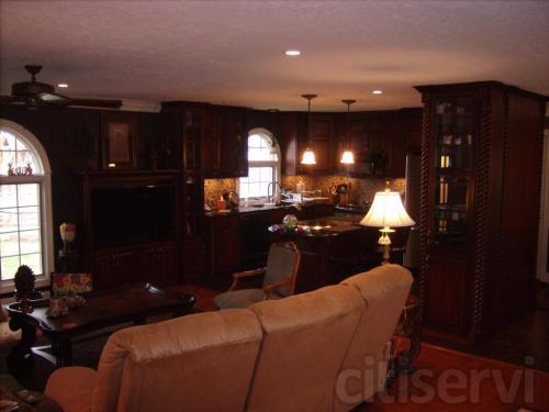 After  New windows, cabinets, flooring, lighting, backspash