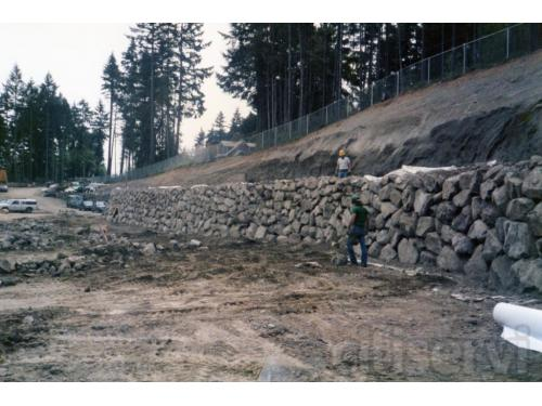 installation of rockwalls @Bremerton waste water treatment plant