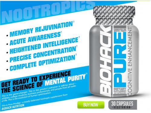 Biohack Pure cognitive enhancements drugs supplements that deliver pure nootropics brain supplements for fully optimized memory, focus, concentration, mood and other essential brain functions.