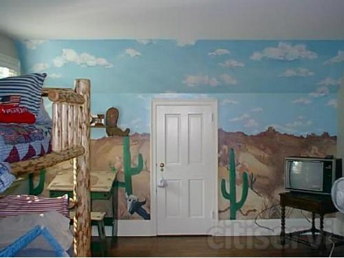 childrens room mural
