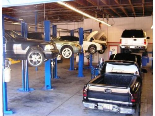 North Transmission repair bays at Allstate Transmission and Auto Repair in Phoenix