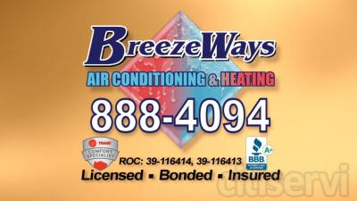 Get 15% off any BreezeWays repair or purchase of a Preventative Maintenance Contract.