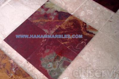 MULTI RED ONYX TILES 12 X 12 X 3/8 WELL POLISHED ON ITALIAN PLANT BY  ITALIAN ABRASIVE
