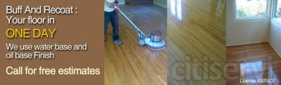 Screen and re-coat your hardwood floors in just one day save 50% of regular price. CALL NOW!!!
