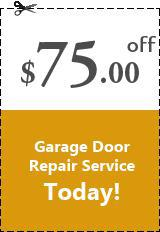 if you are facing any issues with your garage door and needs any kind of repair service just it get it done and get $75.00 OFF on all garage door repair service.  Some other discount coupons are also available right here for you.